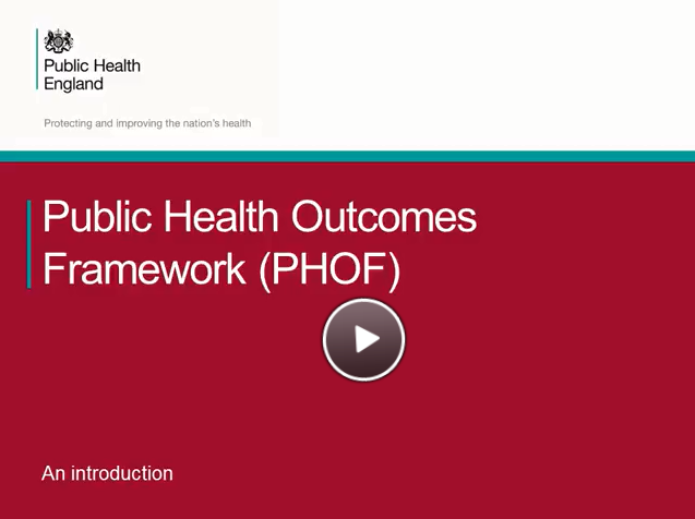 An introduction to the Public Health Outcomes Framework