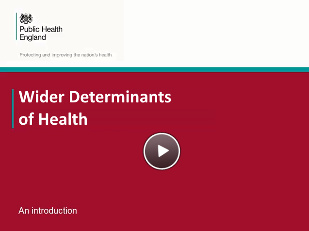 An introduction to the Wider Determinants of Health